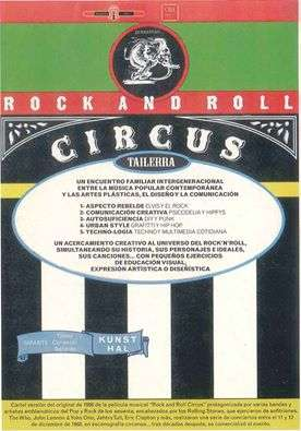 """irun_TALLER """"ROCK AND ROLL CIRCUS"""""""