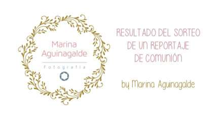 Y el ganador del sorteo de un reportaje de comunión con Marina Aguinagalde es …