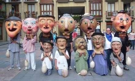 Fiestas en el barrio de Santiago de Irun