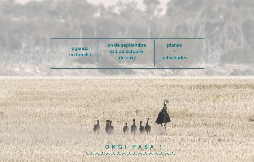 Agenda para el fin de semana del 29 de septiembre al 1 de octubre