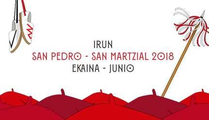 Programa de fiestas de San Pedro y San Marcial 2018 en Irun