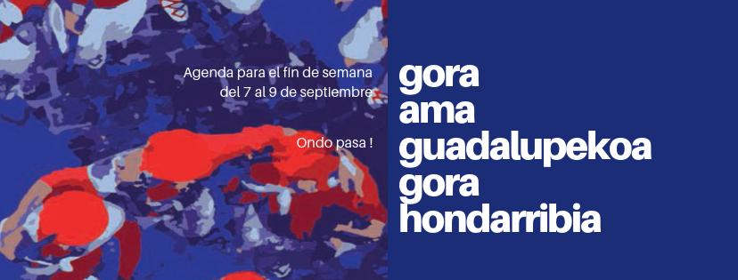 Agenda para el fin de semana del 7 al 9 de septiembre