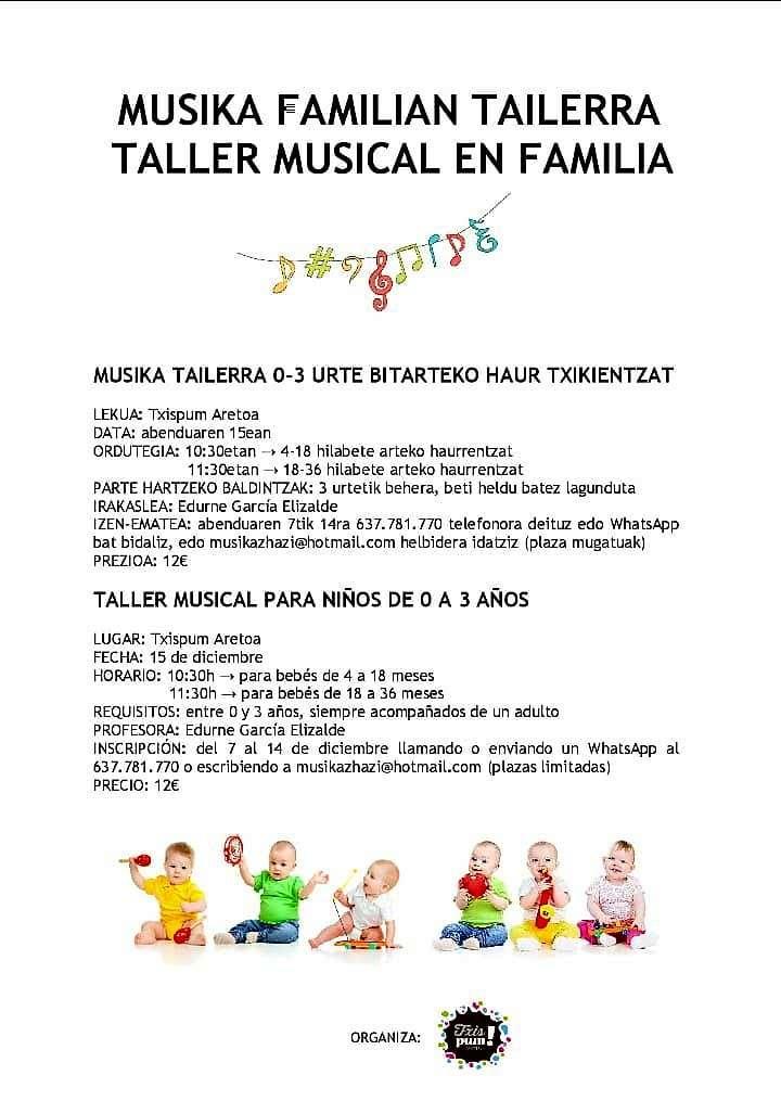 taller de música en familia-txispum-Hondarribia