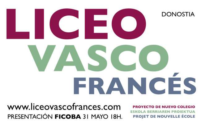 Presentación en Ficoba del proyecto de creación del Liceo vasco-francés de la Eurorregión-iRUN