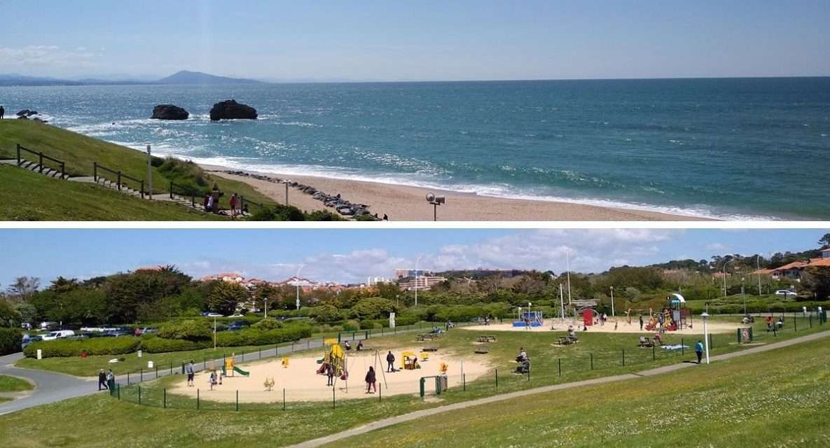 Parque infantil de la Playa Milady en Biarritz