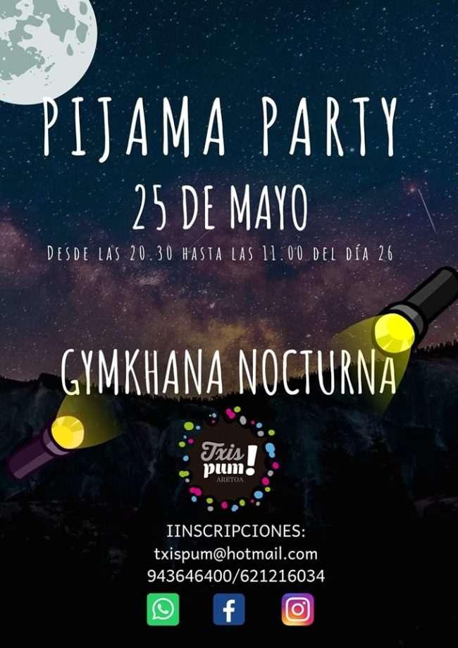 pijama party- Txispum -Hondarribia-GINKANA NOCTURNA por equipos