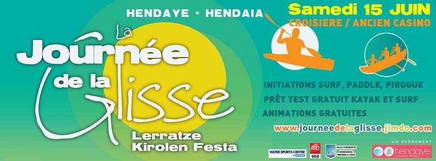 Journée de la Glisse / Lerratzen Kirolen Festa este sábado 15 de junio en Hendaia