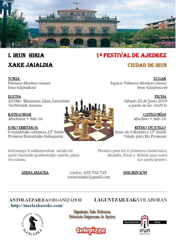 ajedrez-Ier FESTIVAL DE AJEDREZ CIUDAD DE IRUN (ABSOLUTO+SUB16)-irun