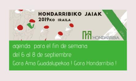 Agenda para el fin de semana del 6 al 8 de septiembre