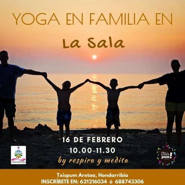 Yoga en familia -Txispum -Hondarribia