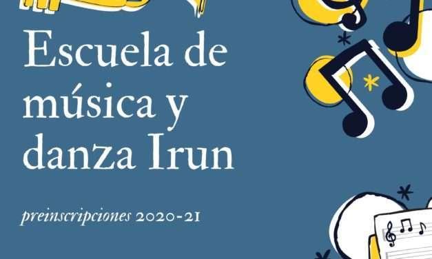 Se abren las preinscripciones para el curso 2020-21 en la escuela municipal de música y danza de irun