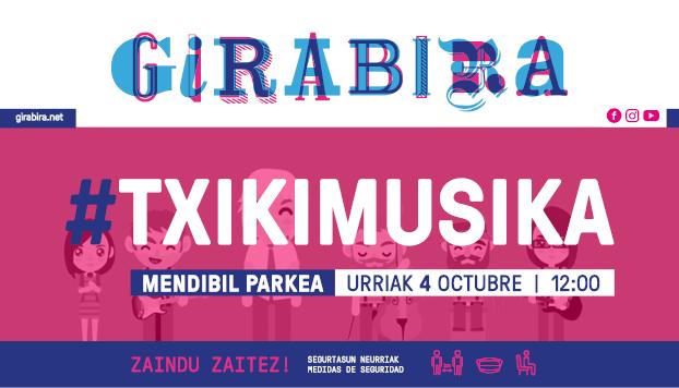Girabira Txikimusika este domingo con Gloria Fuertes y La Fantástica Banda