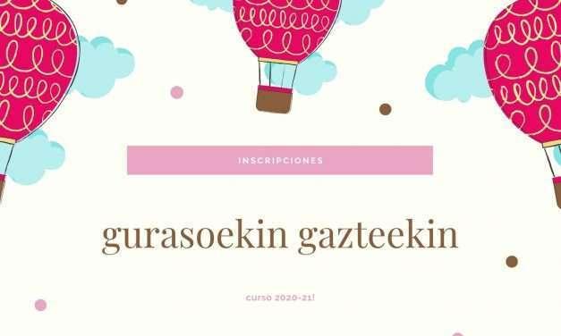 Se abren inscripciones para los programas gurasoekin y gazteekin 2020-21