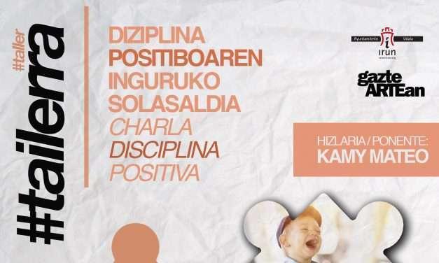 Charla sobre disciplina positiva organizada por Gazteartean