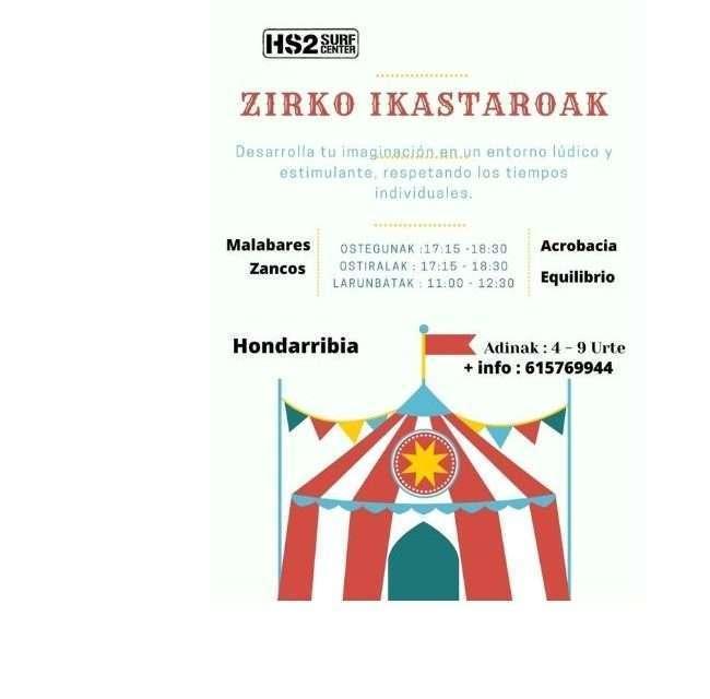 Talleres de Zirko en Hs2 hondarribia