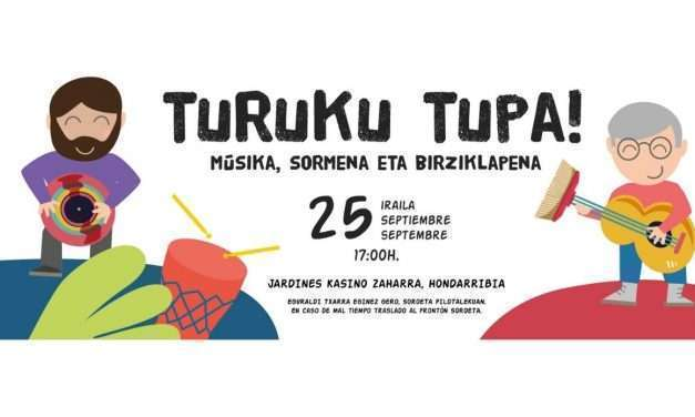 Vuelve el sábado Txikimusika a Hondarribia con el concierto Reziklantes de turukutupa